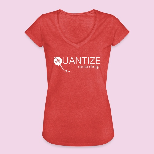 Quantize White Logo - Women's Vintage T-Shirt