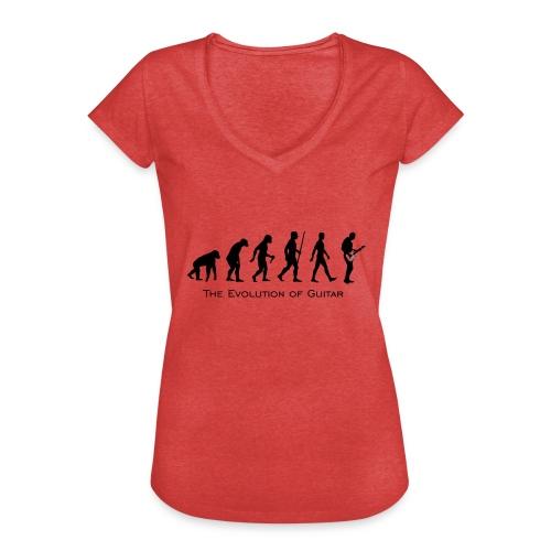 The Evolution Of Guitar - Camiseta vintage mujer