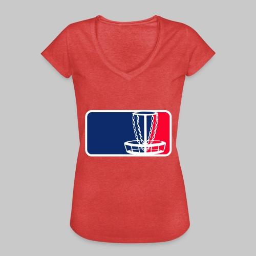 Disc golf - Naisten vintage t-paita