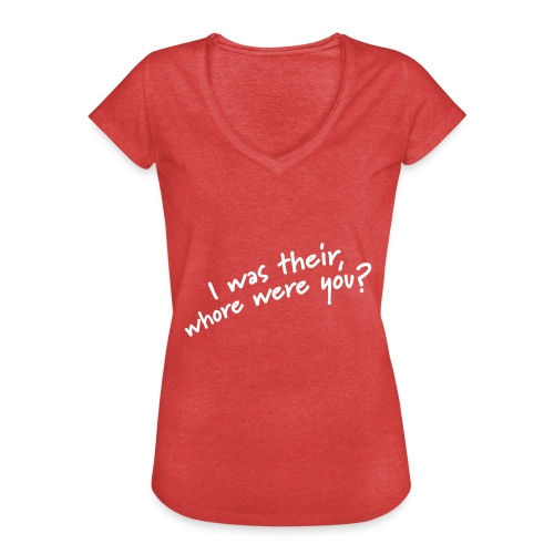 Dyslexic I was there - Vrouwen Vintage T-shirt