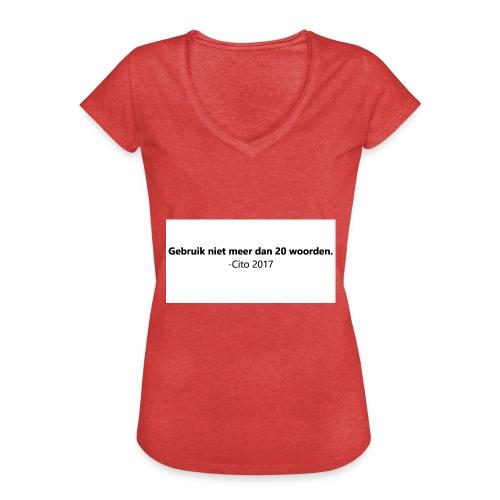 Gebruik niet meer dan 20 woorden - Vrouwen Vintage T-shirt