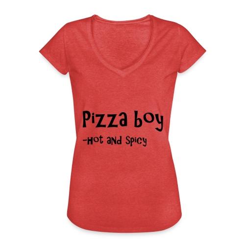 Pizza boy - Vintage-T-skjorte for kvinner