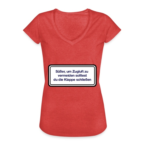 zugluft_er - Frauen Vintage T-Shirt
