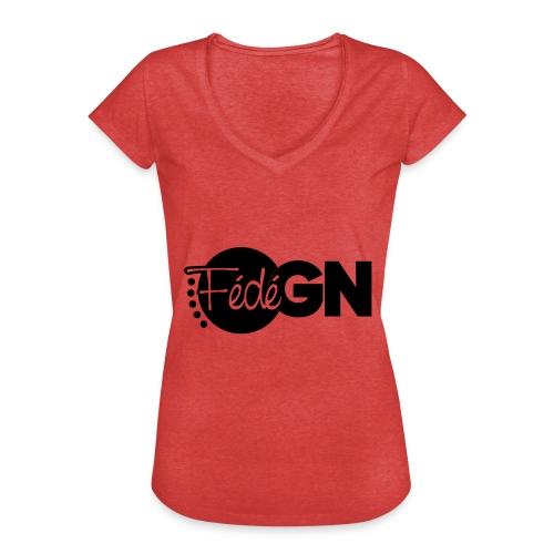 Logo FédéGN pantone - T-shirt vintage Femme