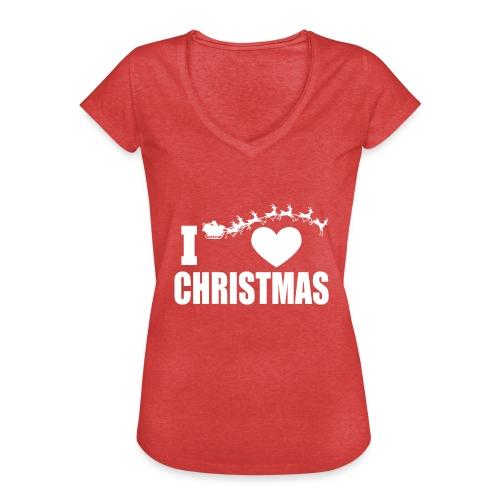 I Love Christmas Heart Natale - Maglietta vintage donna