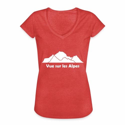 Vue sur les Alpes - T-shirt vintage Femme