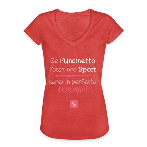 Se l'uncinetto fosse uno sport - Maglietta vintage donna