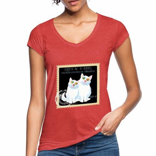 timbre usa - T-shirt vintage Femme