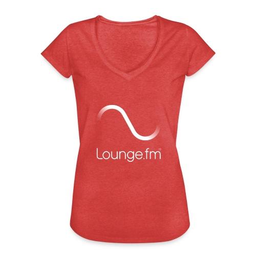 loungefm logo weiss - Frauen Vintage T-Shirt