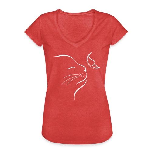 Vorschau: cat butterfly - Frauen Vintage T-Shirt