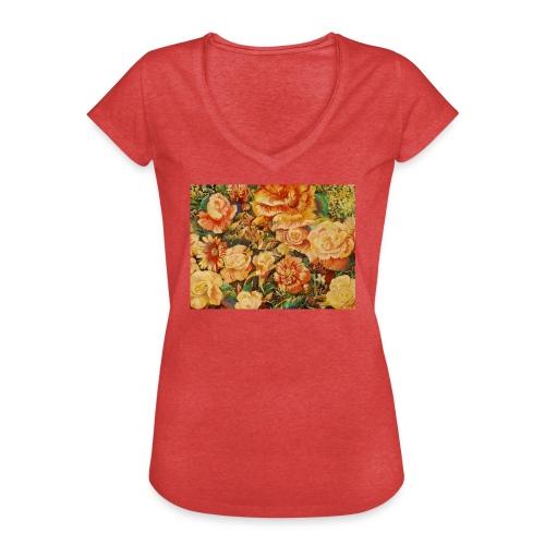 Flowersdesign - Dame vintage T-shirt