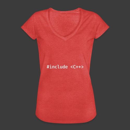 White Include Logo - Women's Vintage T-Shirt