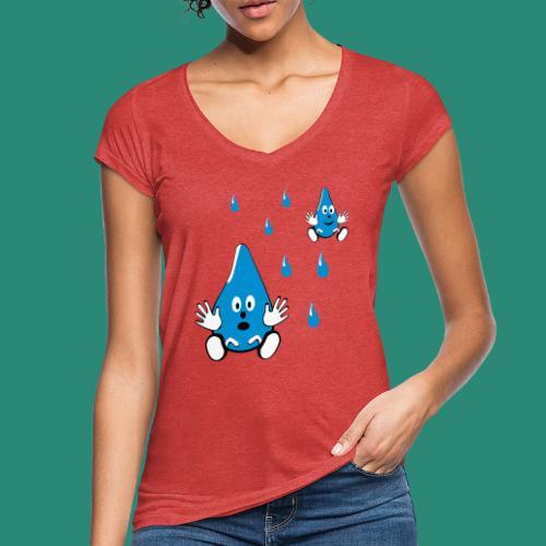 Tropfen - Frauen Vintage T-Shirt