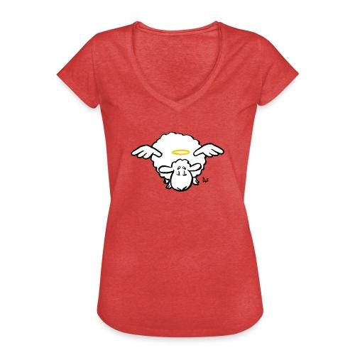 Angel Sheep - Vintage-T-skjorte for kvinner