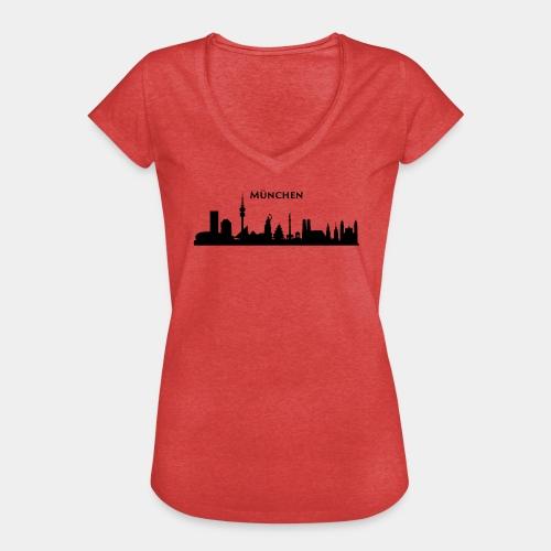 München Skyline - Frauen Vintage T-Shirt