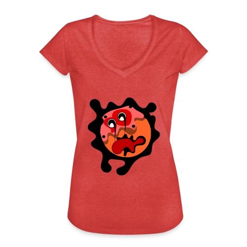 scary cartoon - Vrouwen Vintage T-shirt