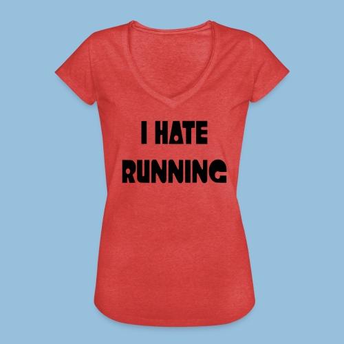 I hate running 002 - Vrouwen Vintage T-shirt