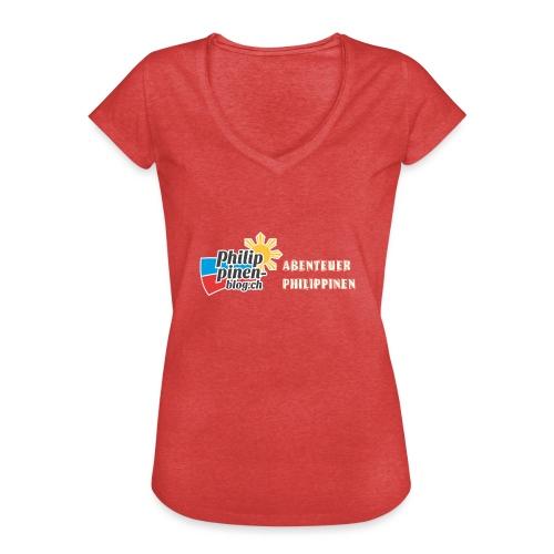 Philippinen-Blog Logo deutsch orange/weiss - Frauen Vintage T-Shirt