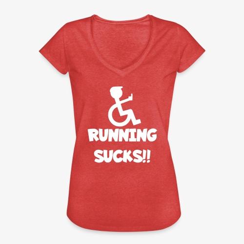 Rolstoel gebruikers haten rennen - Vrouwen Vintage T-shirt