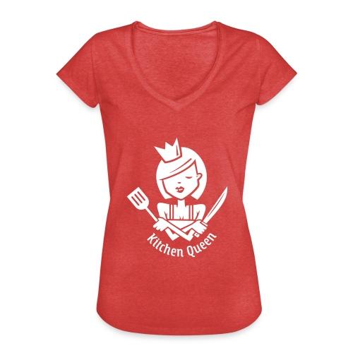 VL126_KitchenQueen_1c_inv - Frauen Vintage T-Shirt