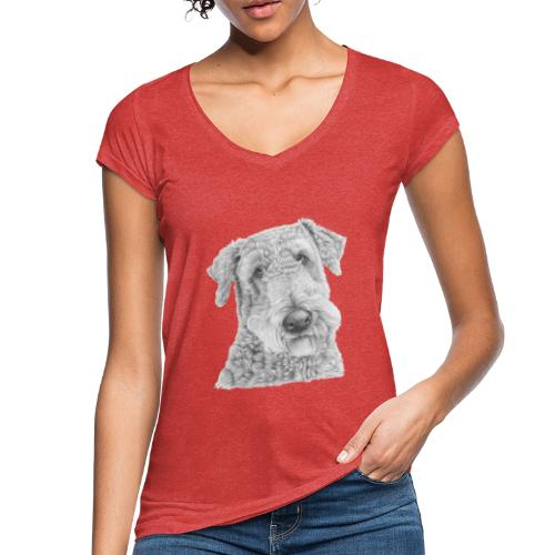 airedale terrier - Dame vintage T-shirt