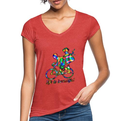 Life is beautiful - Frauen Vintage T-Shirt