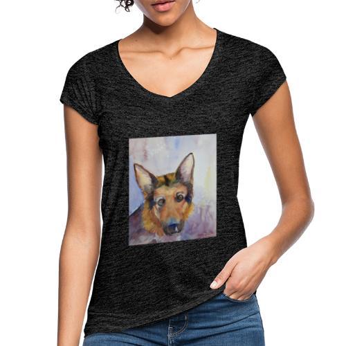 german shepherd wc - Dame vintage T-shirt