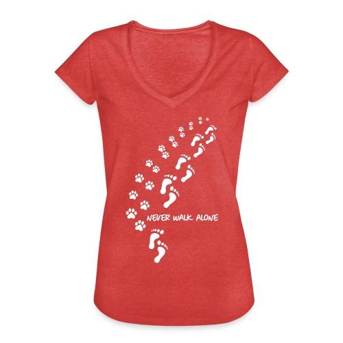 Vorschau: never walk alone dog - Frauen Vintage T-Shirt