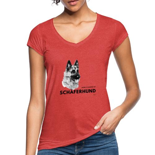 Home is where my Schäferhund is ! - Frauen Vintage T-Shirt