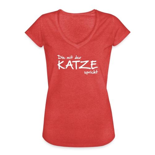 Vorschau: Die mit der Katze spricht - Frauen Vintage T-Shirt
