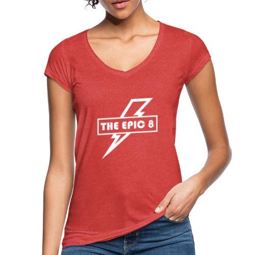 The Epic 8 - Valkoinen logo, iso - Naisten vintage t-paita