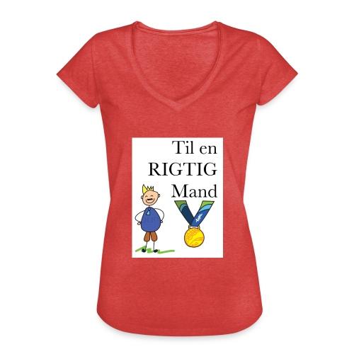 En rigtig mand - Dame vintage T-shirt