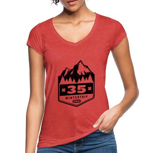 35 ✕ WINTERTRIP ✕ 2021 • BLACK - Vrouwen Vintage T-shirt