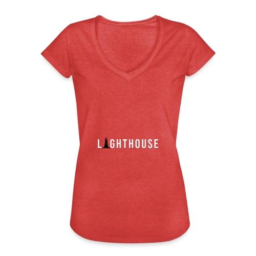 Lighthouse Logo - Frauen Vintage T-Shirt
