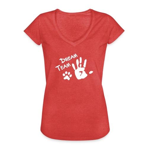Vorschau: Dream Team Hand Hundpfote - Frauen Vintage T-Shirt