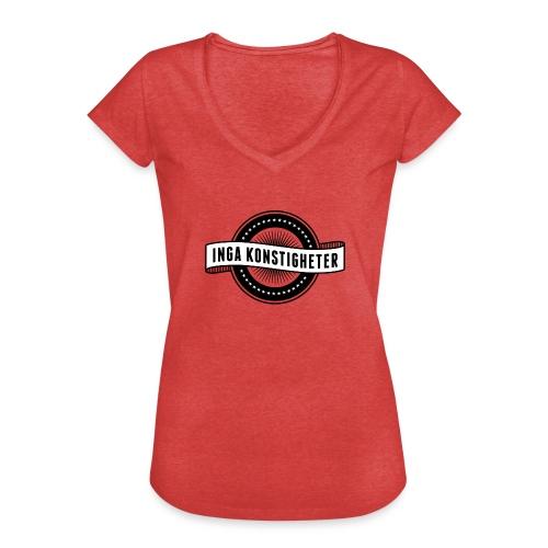 Inga Konstigheters klassiska logga (ljus) - Vintage-T-shirt dam