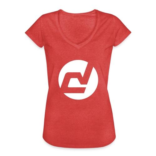 logo blanc - T-shirt vintage Femme