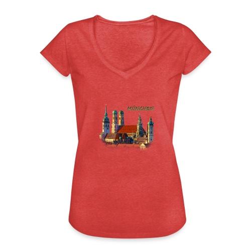 München Frauenkirche - Frauen Vintage T-Shirt