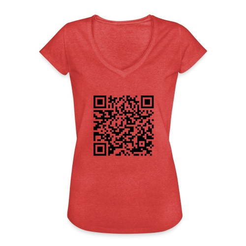 static qr code without logo2 png - Maglietta vintage donna