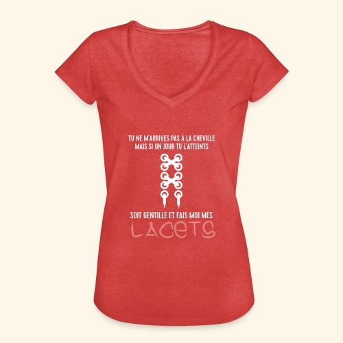cheville et lacets - T-shirt vintage Femme