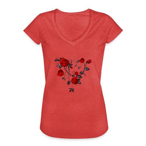 Rosenranken - Frauen Vintage T-Shirt