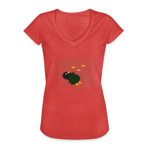 Pingouin Bullet Time - T-shirt vintage Femme