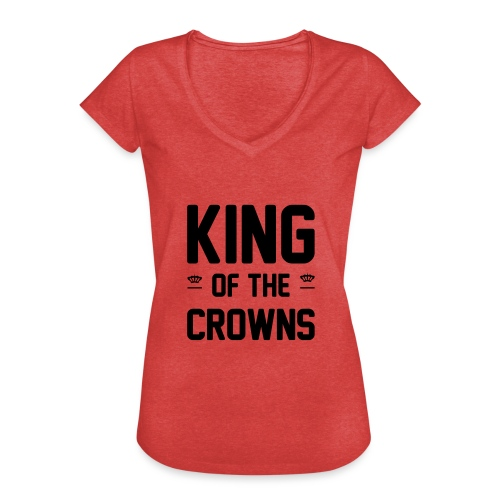King of the crowns - Vrouwen Vintage T-shirt