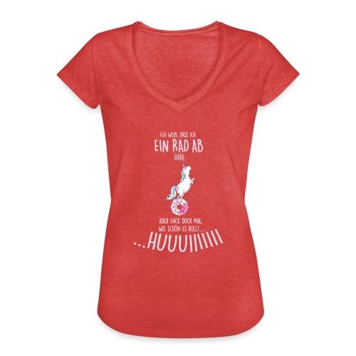 Vorschau: rad ab_einhorn - Frauen Vintage T-Shirt