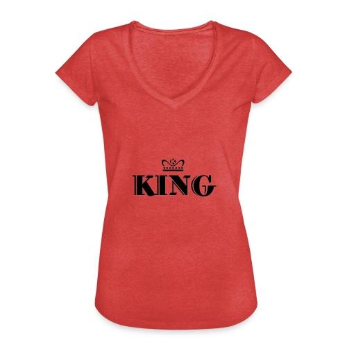 King - Frauen Vintage T-Shirt