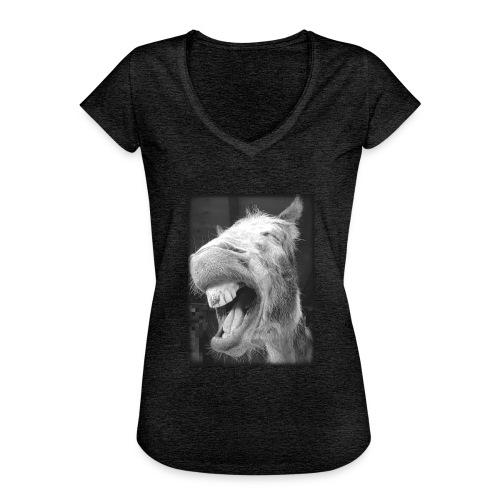 lachender Esel - Frauen Vintage T-Shirt