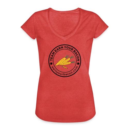 earnyourbacon veggie - Frauen Vintage T-Shirt