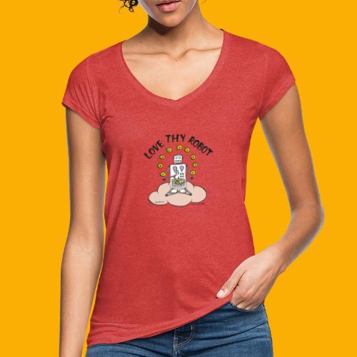 Dat Robot: Love Thy Robot Buddha Light - Vrouwen Vintage T-shirt
