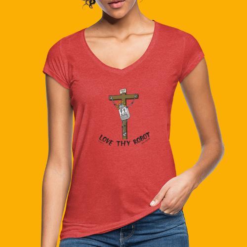 Dat Robot: Love Thy Robot Jesus Light - Vrouwen Vintage T-shirt