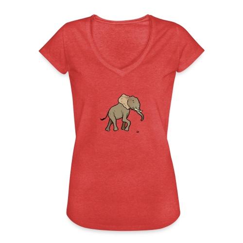 African Elephant - Frauen Vintage T-Shirt
